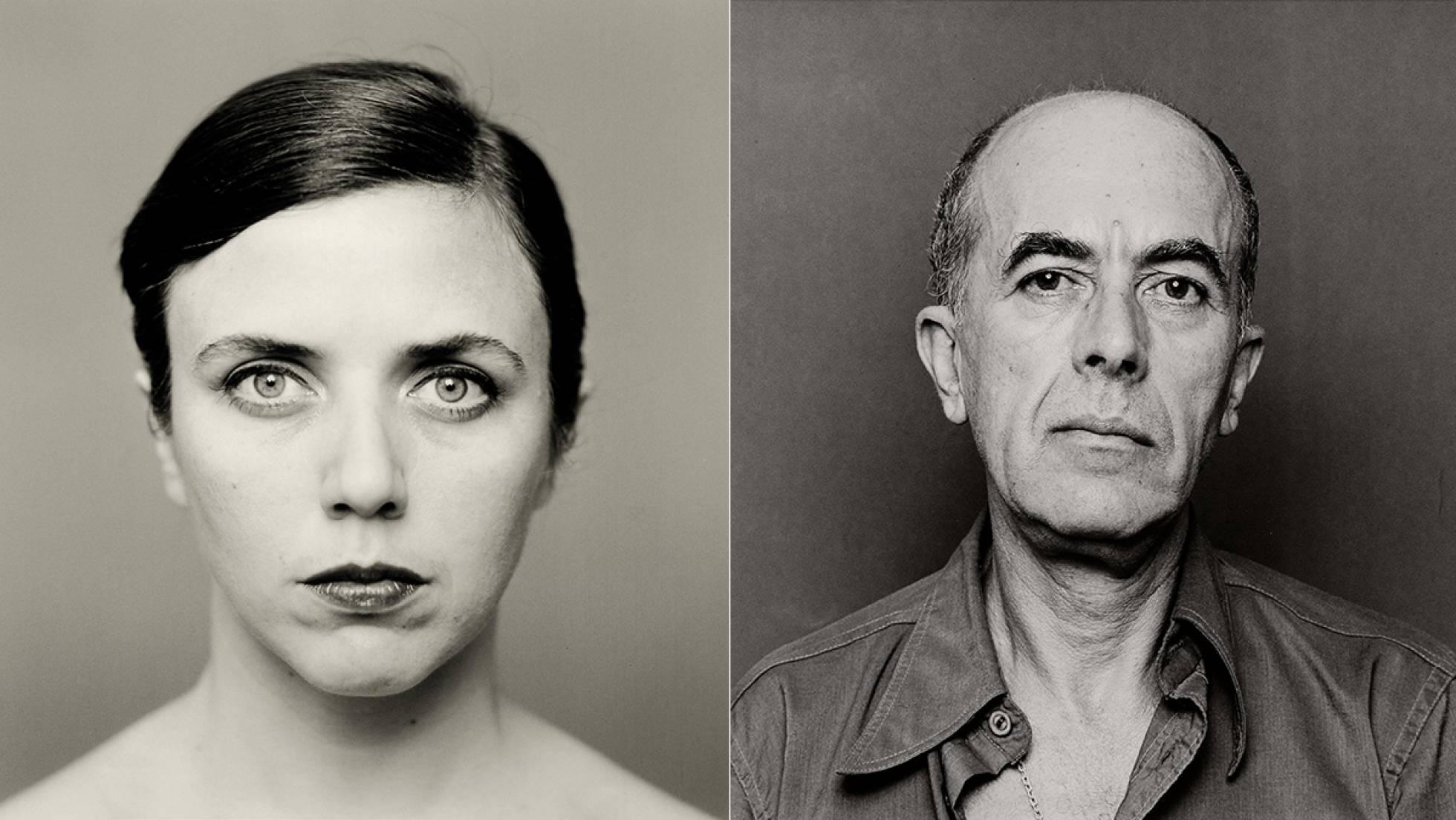 Retrato Blanco y Negro mujer hombre mirada ojos Espacio Nolich