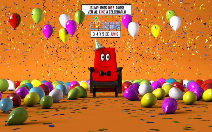 Fiesta globos celebración cumpleaños aniversario cine colores espacio nolich