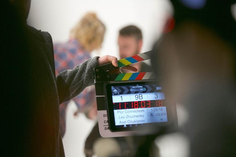 cortometraje film película rodaje claqueta sesión de fotos espacio nolich plató fotografía
