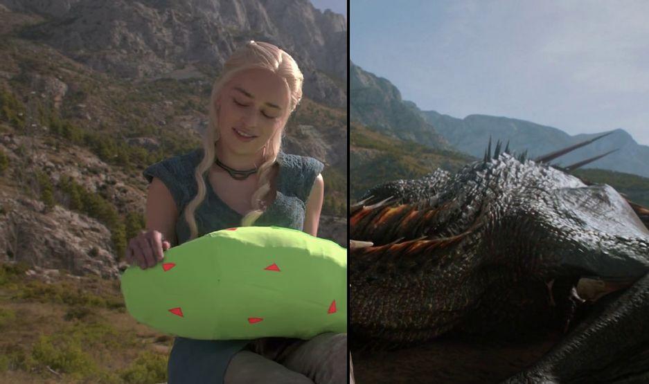 chica dragón juego de tronos paisaje montaña espacio nolich