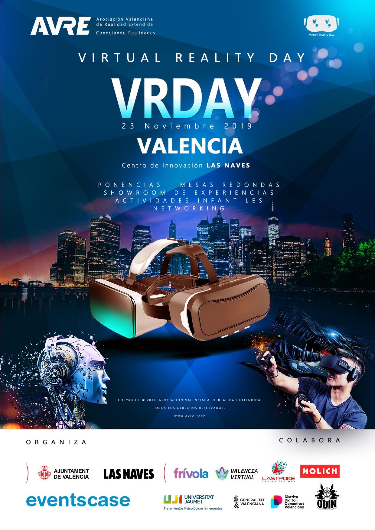 realidad virtual gafas cartel visor ciudad tecnología nolich avre