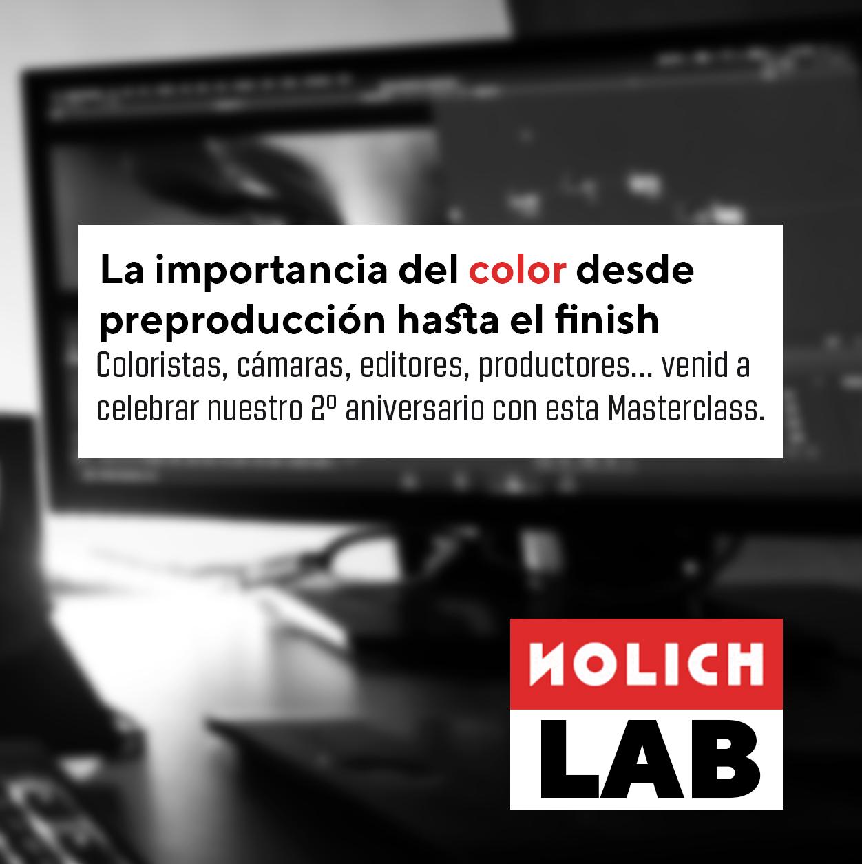 Masterclass Etalonaje NOLICH Color sala postpo finish