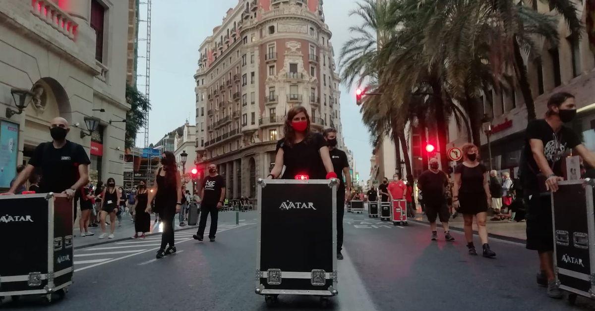 Concentración Alerta Roja en Valencia